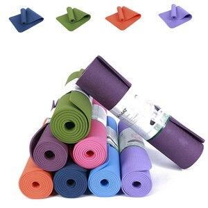 8mm alfombrillas de Fitness TPE Yoga pads gimnasio ejercicio accesorios entrenamiento para Pilates tapetes deportivos para yoga chica body shaping matt mats negro