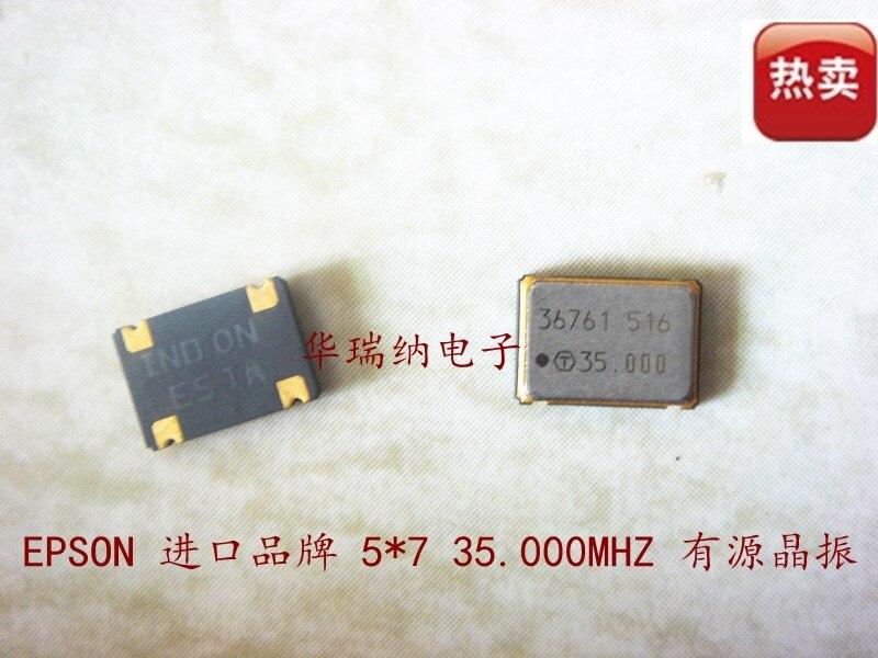 5pcs 100% New And Orginal Industrial Wide Temperature 5X7 35M 35MHZ 35.000MHZ Active Chip Crystal OSC 3.3V 5V