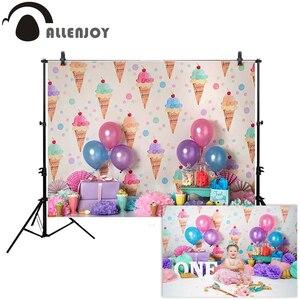 Allenjoy торт smash 1 день Рождения фотография фон мороженое шар украшения девушка фото фон фотобудка для фотосессии