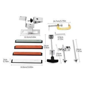 Image 5 - 2020 железная точилка для стальных ножей, профессиональная точилка для ножей с фиксированным углом, с 4 камнями, система точильных камней, точильный инструмент