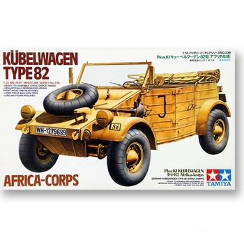 Tamiya 35238 1/35 German Kubelwagen Type 82 Africa-Corps Display Collectible Toy Plastic Assembly Building Model Kit недорого