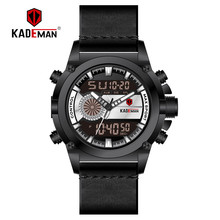 KADEMAN New Fashion Men Watch Sport Digital Watch Top Luxury Brand Dual Display Date LCD Wristwatch Military Man Automatic Clock