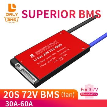128 BMS 20S 72V 18650 30A 40A 50A 60A bms 74V lithium polymer battery 3.7v pcm pcb for Ebike Scooter