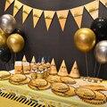 Новый строительная техника вечерние украшения автомобилей одноразовая посуда комплект пластины чашки баннер для детей День рождения вече...