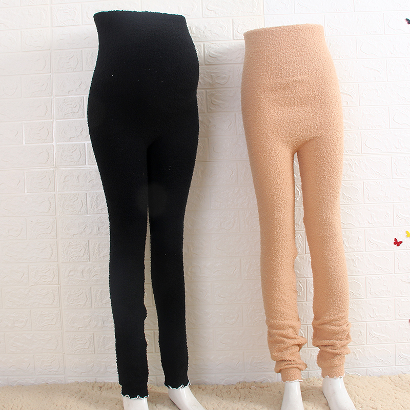 Stretch Stretch High-waisted Plush Long Johns Soft And Thick Leggings