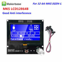 3D printer LCD parts LCD12864 controller Reprap 12864 lcd MKS LCD12864A screen LCD module for MKS gen v1.4 GEN_L motherboard