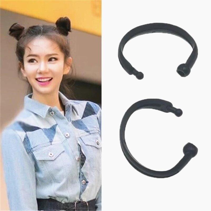 2PCS New Magic Hair Quick Maker Hair Band Bud Round DIY Donut Hair Styling Tools Headband For Women Korean Hair Accessories