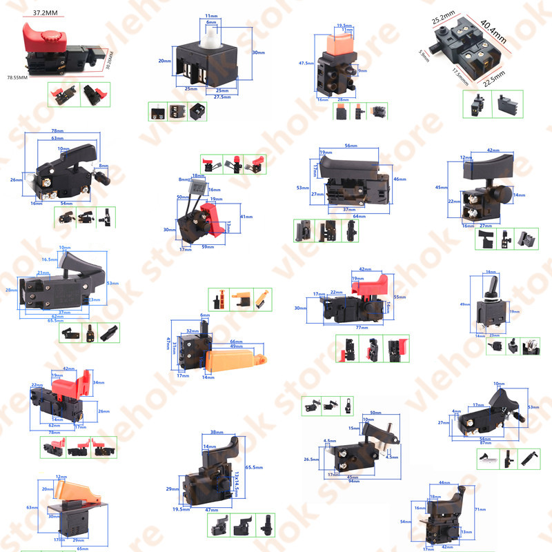 Switch Replace For BOSCH MAKITA HIKOKI Power Tool Accessories Electric Tools Part