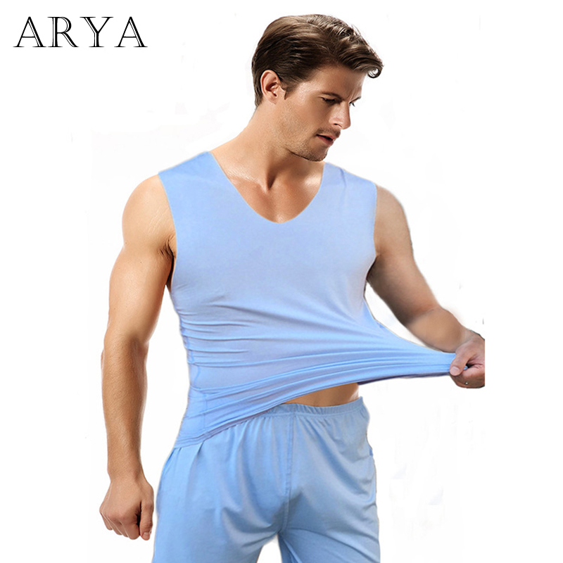 Pajamas Underwear Nightgown Silk Male Men's Stain for Adults Soft Cozy Hombre Set-Quality