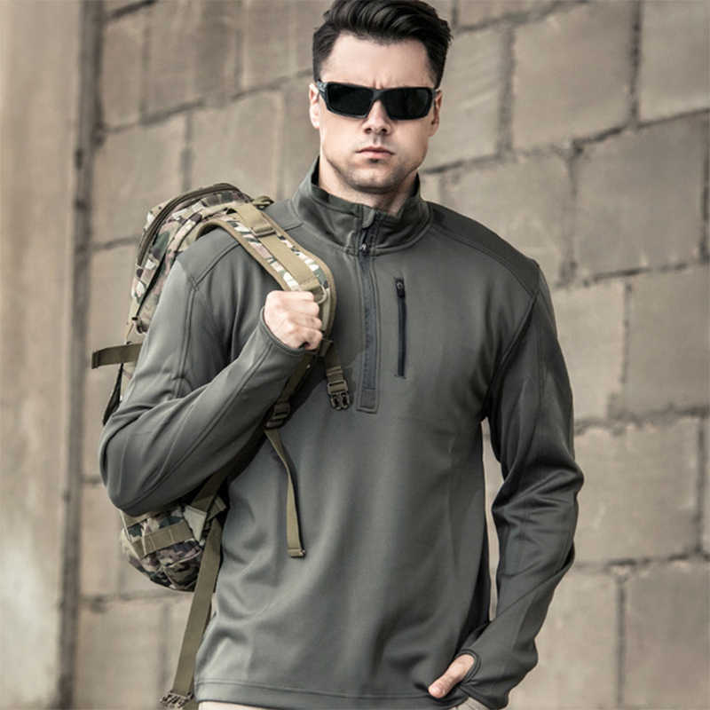 Men Outdoor Military Tactical Polo Shirts Breathable Wear Resistant Elasticity Shirts Climbing Training Hiking Combat Army Tops