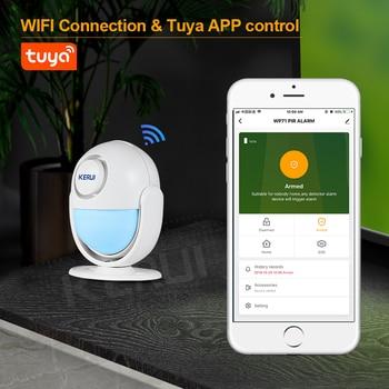 KERUI Tuya Smart Home Security WIFI Alarm System Works With Alexa 120dB PIR Detector Door/Window Sensor Wireless App Burglar 3