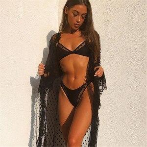 Swimwear Women Sexy Black Mesh Bikini 2020 Female Swimsuit Push Up Biquini Bathing Suit Thong Brazilian Bikinis Set Swim Wear