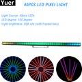 40X0,5 Вт RGB светодиодный пиксельный светильник RJ45 разъем DMX 512 ArtNet KlingNet управление матовый эффект DJ диско сценический светильник 828 нит