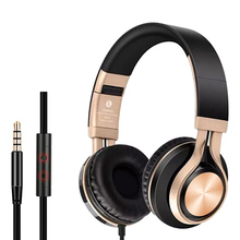 Wired Portable Folding Headphones Headsets Heavy Bass Music Game Earphones with Mic for Phone Computer Laptop PC Tablet Earphone цена
