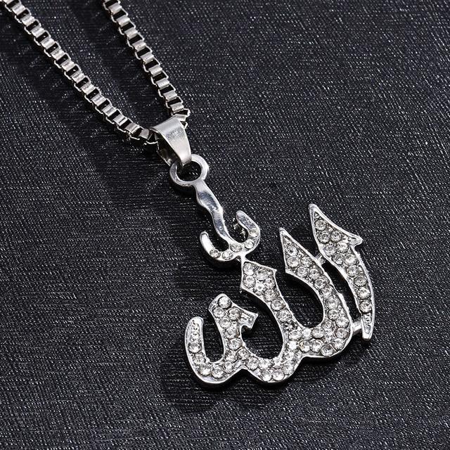 2020 Nieuwe Mode Moslim Allah Gouden Kettingen Vrouwen Lange Trui Keten Ketting Hanger Vrouwelijke Sieraden Boho Accessoires