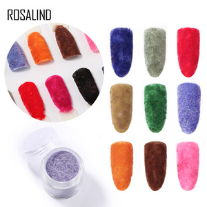 Nail Decoration Color Velvet Nail Powder 15 Color Nail Art Glitter Decoration Powder 2g Factory Wholesale zh
