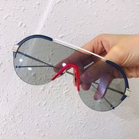 High Quality Sunglasses Women Fashion Brand Design Gradient Sunglasses Goggle Shades Men