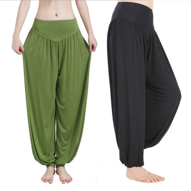 Wide Leg Yoga Pants Women Loose Pants Long Trousers for Yoga Dance  M L XL XXL XXXL Soft Modal Home Pants Yoga TaiChi Pants 1