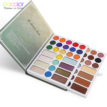 Docolor Baru 54 Warna Eyeshadow Palet Makeup Palet Nude Shimmer Matte Eye Shadow Bedak Tahan Air Pigmen(China)