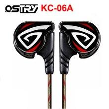 OSTRY KC06 KC06A דינמי HIFI אוזניות ב אוזן אוזניות ספורט אוזניות אוזניות תהליך של ציפוי ואקום Wired אוזניות 3.5mm תקע