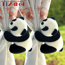 1 Pair Cartoon Panda Curtain Tie Back Buckle Kid's Room Curtain Accessories Clip-On Curtain Strap Tie Backs Holdbacks CA028#4(China)