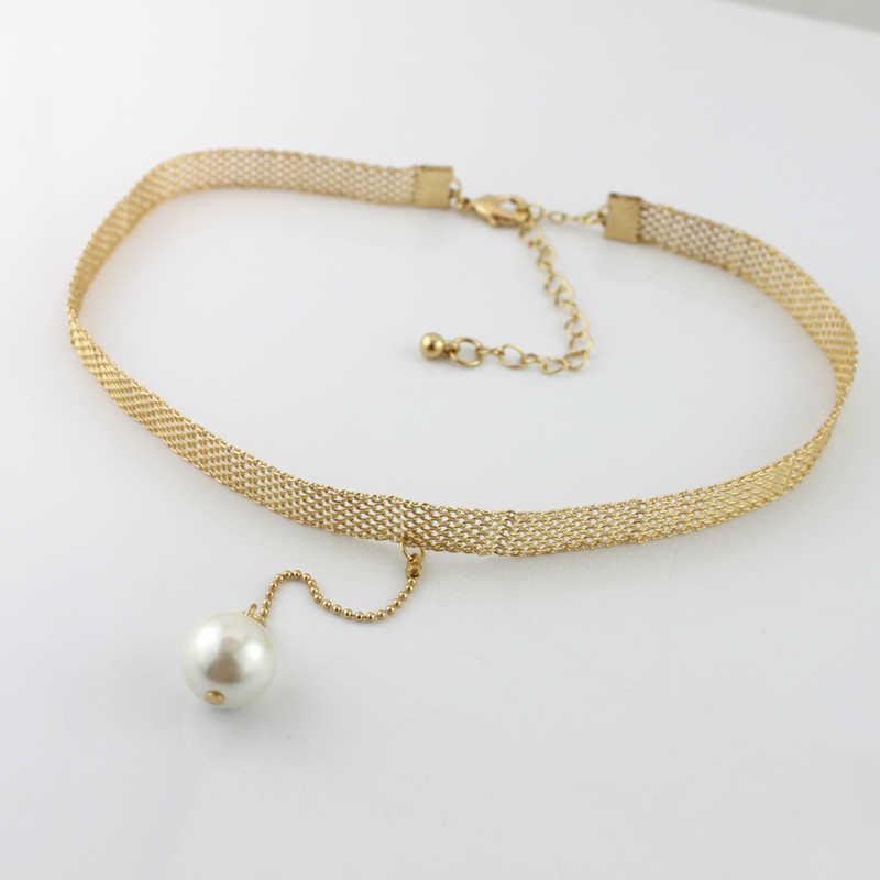 Необычный чудесный великолепный искусственный шарф с жемчугом ожерелье женское Ювелирное Платье панк хип хоп модный топ в готическом стиле подарок Бохо чокер Ins 2533
