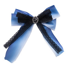 High Quality Broche Jewelry Brooch with Crystal for Women Ribbon Bow Tie Handmade Silky Fabric Corsage Brooches Pins Accessories vintage fabric houndstooth bow brooch lapel pin necktie ribbon brooches jewelry luxury crystal broche gift for women accessories
