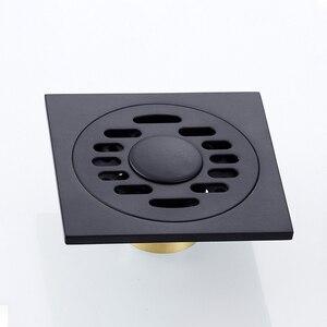 Image 3 - シャワー排水平方風呂ストレーナー髪アンティークブラスブラック浴室床ドレングリッド廃格子洗濯機の排水カバー