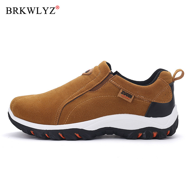 Men's Walking Shoes Slip-On Comfortable Anti-slip Sneakers Footwear Breathable Big Size 39-48