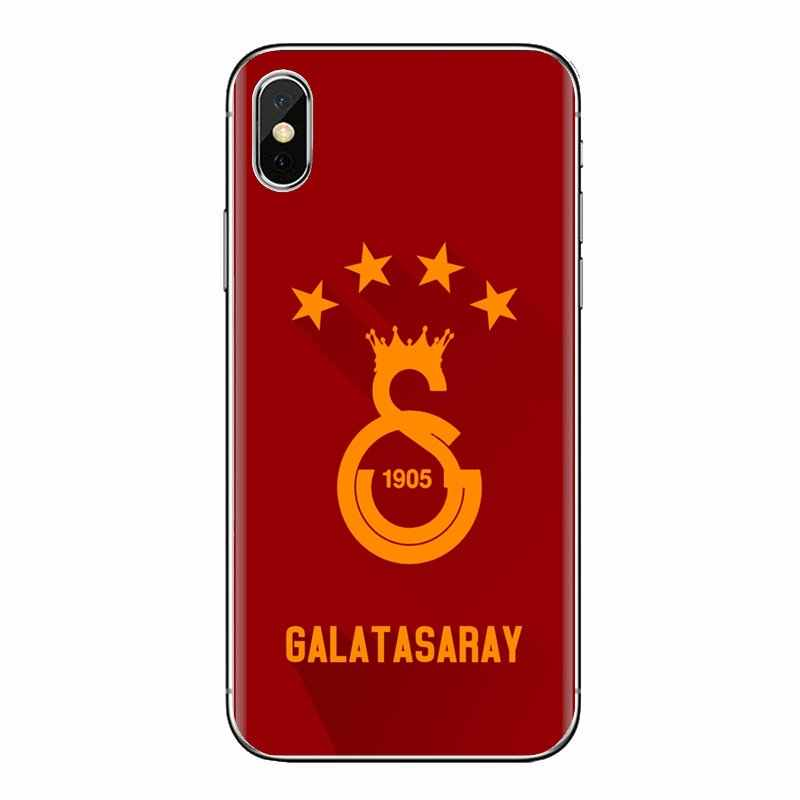 Transparante Soft Shell Covers Voor Samsung Galaxy A3 A5 A7 A9 A8 Ster A6 Plus 2018 2015 2016 2017 Galatasaray turkije S.K. FC Logo
