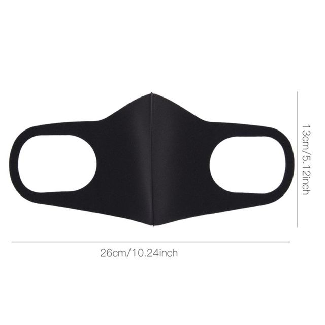 3Pcs/Set 3D Sponge Dustproof Mouth Mask Washable Anti Flu Pollution Respirator 85WB