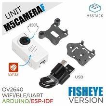 M5Stack Neue Fisch auge Kamera Modul OV2640 Mini Fisheye Kamera Einheit Demoboard mit ESP32 PSRAM Entwicklung Bord GROVE Port rollenmaschinenlinie typc