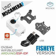 M5Stack חדשה מצלמה מודול OV2640 מיני Fisheye מצלמה יחידה וdemoboard עם ESP32 PSRAM פיתוח לוח גרוב יציאת typeC