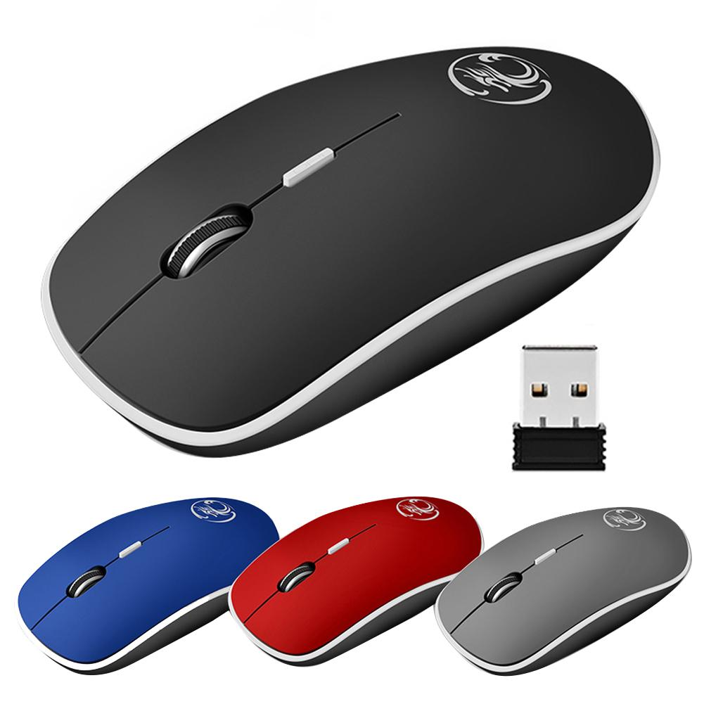 2.4GHz 4 Keys Ergonomic Mute Optical Wireless Gaming Mouse Mice for PC Laptop