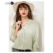 Женская шелковая рубашка с длинным рукавом silviye модная Маленькая