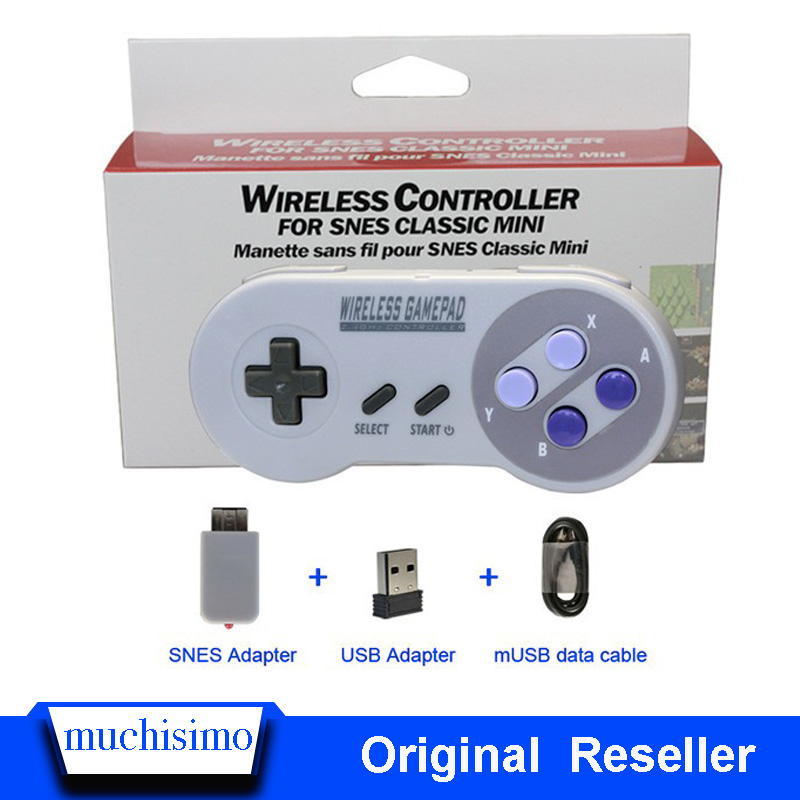 Wireless Gamepads 2.4GHZ Joypad Joystick Controller For SNES Super Nintendo Classic MINI Console Remote Accessories Gamepad