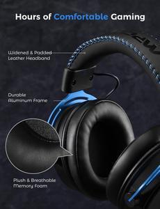 Mpow Air II игровая гарнитура 3,5 мм Проводная гарнитура Surround Sound Игровые наушники с Шум Микрофон функцией шумоподавления для PS4 переключатель гей...