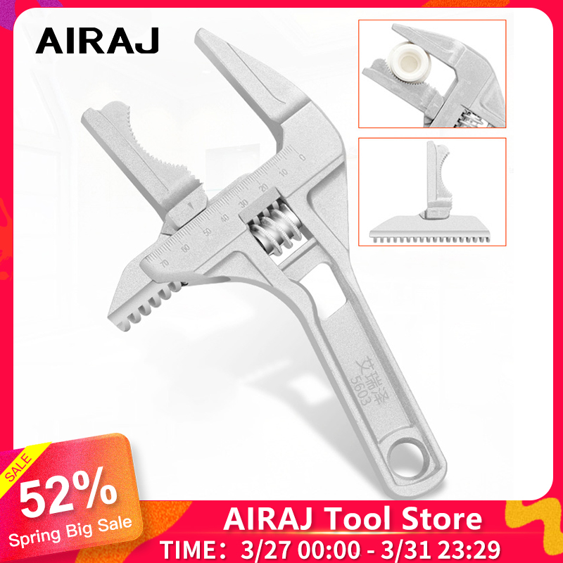 AIRAJ Adjustable Wrench Universal Large Opening Bathroom Wrench, 16-70mm Screw Key Nut Wrench Multitool High Quality Tool