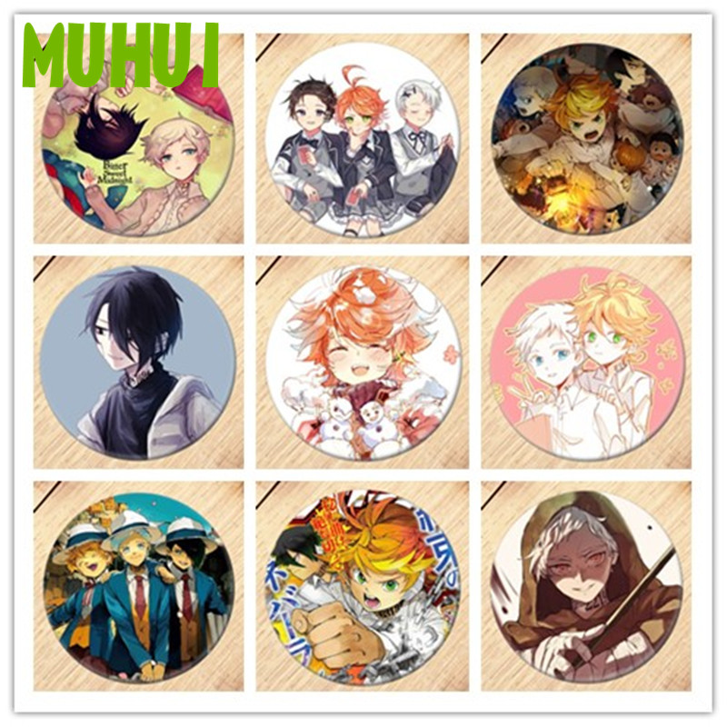 Free Shipping Anime The Promised Neverland Brooch Pin Cosplay Badge  For Clothes Backpack Decoration Children's Gift B008