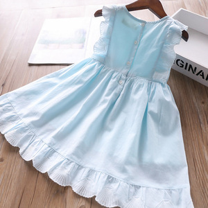 Image 3 - 2020 Spring and Summer Baby Girls Cotton Vest Dress Childrens Clothing Wholesale
