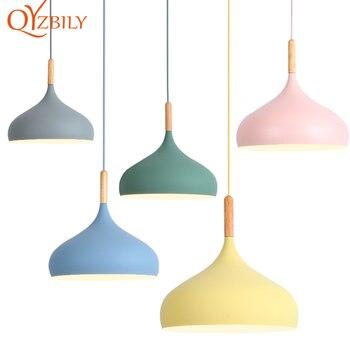 цена Modern pendant lights pandant lamp nordic loft style design hanging lamp wood dinning room  kitchen home decor light fixtures онлайн в 2017 году