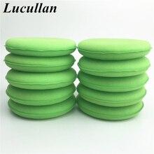 Lucullan 10 pz/lotto verde ad alta densità ceretta e lucidatura schiuma Pad Auto dettaglio applicatore spugna