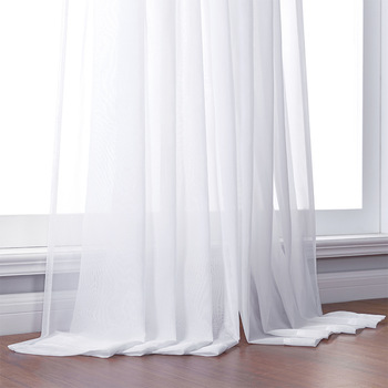 White Tulle Curtains for Bedroom 1