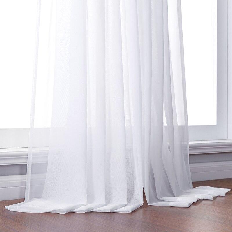тюль белый занавески для гостинной Белый Тюль занавески для гостиной спальня современный Тюль органза шторы ткань шторы ткань тюль