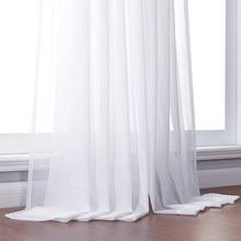 Tende da finestra trasparenti in Tulle bianco solido ELKA per soggiorno la camera da letto moderna Tulle Voile tende in Organza tende in tessuto