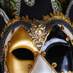 Image 3 - Strongwell Party Mask Venice Masks Party Supplies Masquerade Mask Christmas Halloween Venetian Costumes Carnival Anonymous Masks