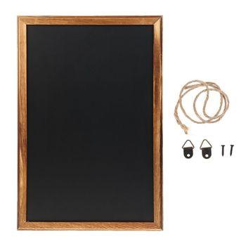 Rectangle Hanging Wooden Message Blackboard Chalkboard Wordpad Sign Kids Board For Restaurant, Bar, Office, home 1