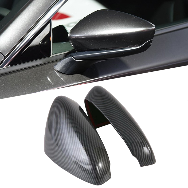 Rearview Mirror Shell Housing Mirror Cover Side Mirror Shell For Mazda 3 M3 <font><b>Mazda3</b></font> <font><b>2019</b></font> 2020 Car Accessories Carbon Fiber Style image