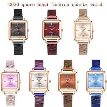 2020 new classic square head Luxury Women Watches Magnetic Fashion Female Clock Quartz Wristwatch Ladies Wrist Watch