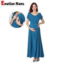 Emotion Moms, весенне-летняя одежда для беременных женщин, повседневное сексуальное платье с v-образным вырезом для беременных женщин
